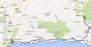 Driving directions from Malaga