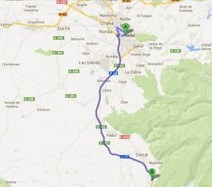 Granada to Mondujar