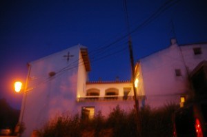 Casita de la Vaca at night